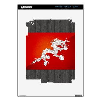 Monochrome Bhutan Flag Skin For iPad 3