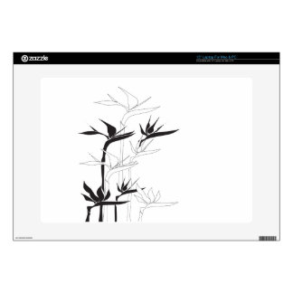 """Monochrome Bird of Paradise Decals For 15"""" Laptops"""