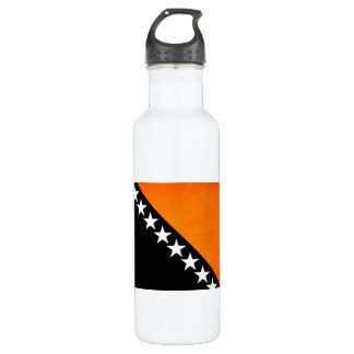 Monochrome Bosnia Herzegovina Flag Water Bottle