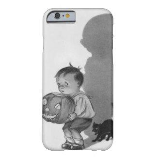 Monochrome Boy Jack O Lantern Shadow Black Cat Barely There iPhone 6 Case