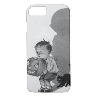 Monochrome Boy Jack O Lantern Shadow Black Cat iPhone 8/7 Case