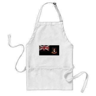 Monochrome British Virgin Islands Flag Apron