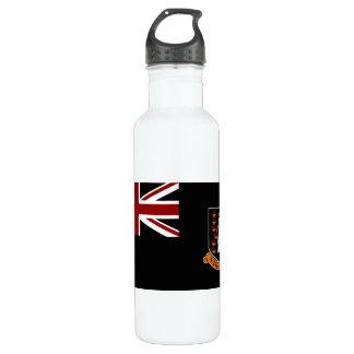 Monochrome British Virgin Islands Flag Water Bottle