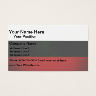 Monochrome Bulgaria Flag Business Card