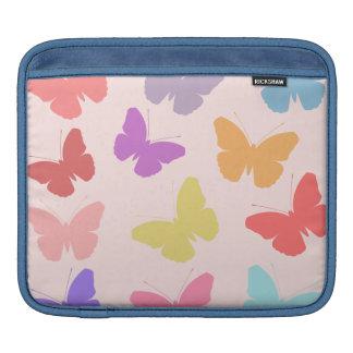 Monochrome Butterflies Design Sleeve For iPads