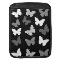 Monochrome Butterflies Pattern Sleeve For iPads