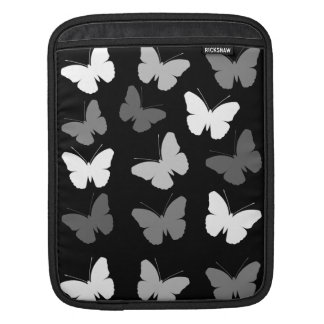 Monochrome Butterflies Pattern Sleeve For iPads