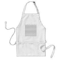 Monochrome Butterfly Pattern. Adult Apron