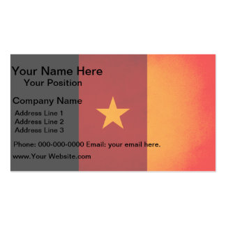 Monochrome Cameroon Flag Business Cards