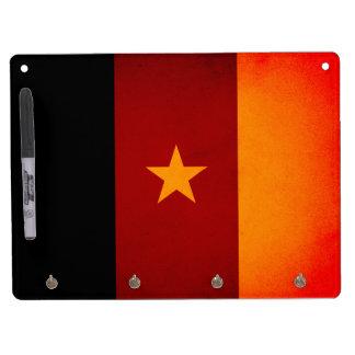 Monochrome Cameroon Flag Dry-Erase Board