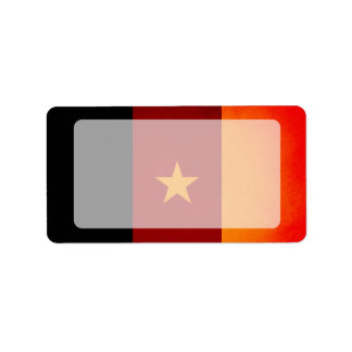 Monochrome Cameroon Flag Personalized Address Labels