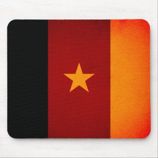 Monochrome Cameroon Flag Mousepad