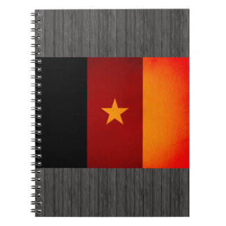 Monochrome Cameroon Flag Notebooks