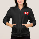 Monochrome Canada Flag Printed Jackets