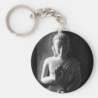 Monochrome Carved Buddha Keychain