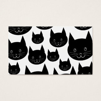 Monochrome Cat Design. Business Card