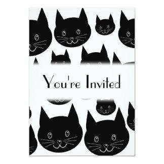 Monochrome Cat Design. Card