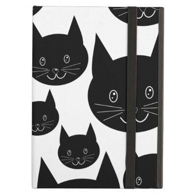 Monochrome Cat Design. iPad Case