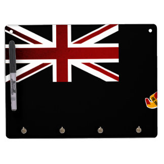 Monochrome Cayman Islands Flag Dry Erase Board