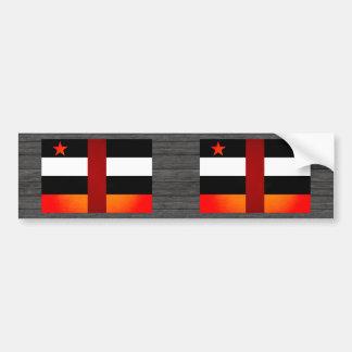Monochrome Central African Republic Flag Bumper Stickers