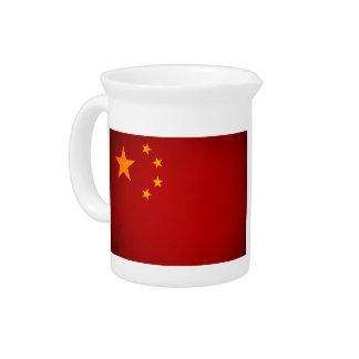 Monochrome China Flag Drink Pitchers
