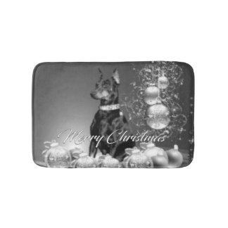 Monochrome Christmas Bath Mat