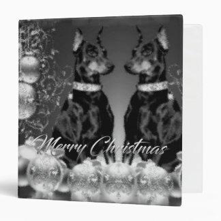 Monochrome Christmas Binder