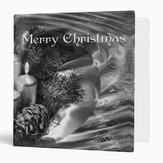 Monochrome Christmas Binder with Water Ripples