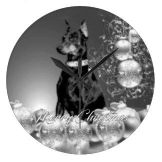 Monochrome Christmas Clock