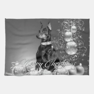 Monochrome Christmas Kitchen Towel