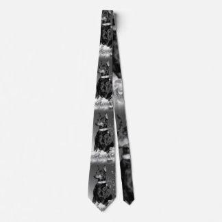 Monochrome Christmas Neck Tie