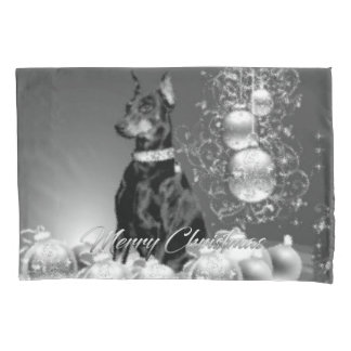 Monochrome Christmas Pillow Case