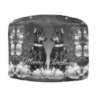 Monochrome Christmas Pouf