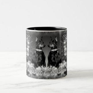 Monochrome Christmas Theme Mug