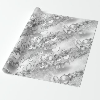 Monochrome Christmas theme Wrapping Paper
