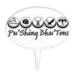 Monochrome Classic Button Logo Cake Topper