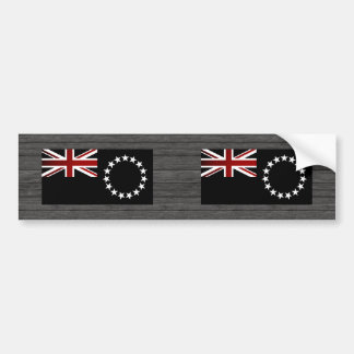 Monochrome Cook Islands Flag Car Bumper Sticker