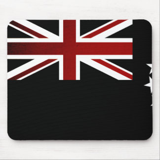 Monochrome Cook Islands Flag Mouse Pads