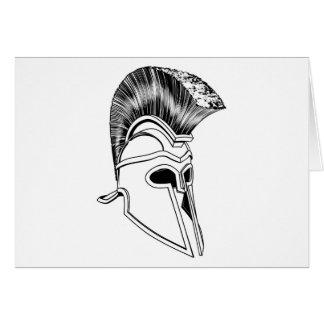 Monochrome Corinthian helmet Cards