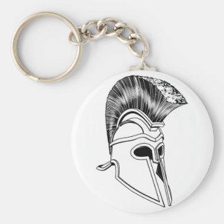 Monochrome Corinthian helmet Key Chain