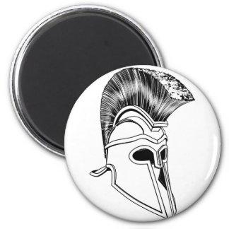 Monochrome Corinthian helmet Fridge Magnet