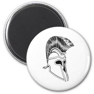 Monochrome Corinthian helmet Refrigerator Magnet