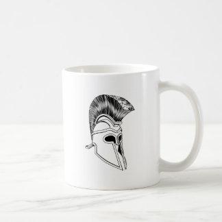 Monochrome Corinthian helmet Coffee Mugs