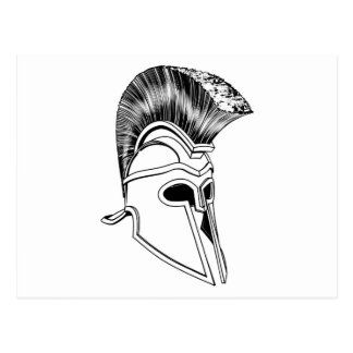 Monochrome Corinthian helmet Post Card
