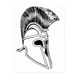Monochrome Corinthian helmet Postcards