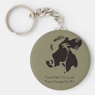 Monochrome cow can key holder keychain