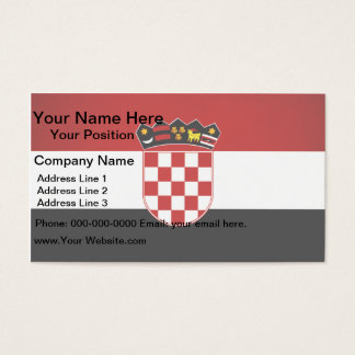 Monochrome Croatia Flag Business Card