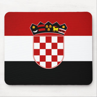 Monochrome Croatia Flag Mouse Pad