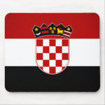 Monochrome Croatia Flag Mouse Pads
