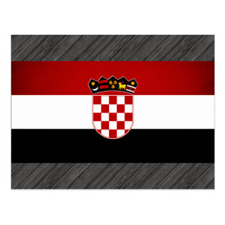 Monochrome Croatia Flag Postcard